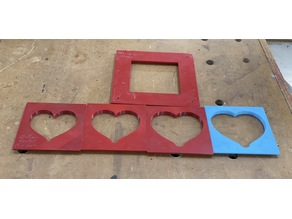 Heart shaped router templates