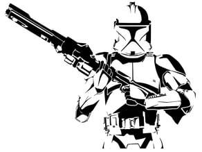Clone trooper stencil
