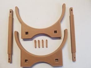 Wooden Barrel Model Kit Stand