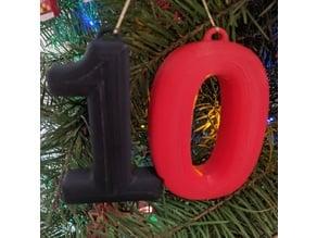 10th Birthday Christmas Ornament