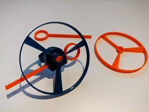 Improved 3D Pull Copter Finger Ring - M3 screw version