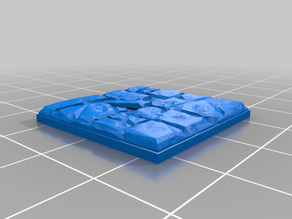 Stone floor tile. low poly style