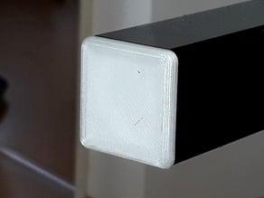 Customizable endcap for square tube