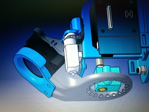 Adapter and extruder fan duct with bltouch for titan v6 and dragon & E3D