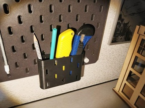 IKEA pegboard container for pens and tools
