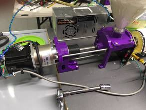 Motor, Thrust bearing, Hopper, and Flange assembly for a DIY Filament Extruder