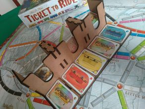 Card Tray for Ticket to Ride
