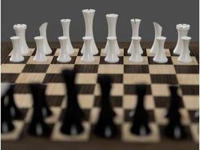 Minimalist contemporary chess set v2