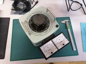 Voltage and amp holder for voltage regulator