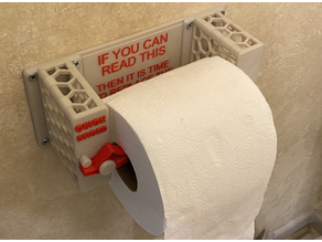 Tactical Toilet Paper Holder with enhancements