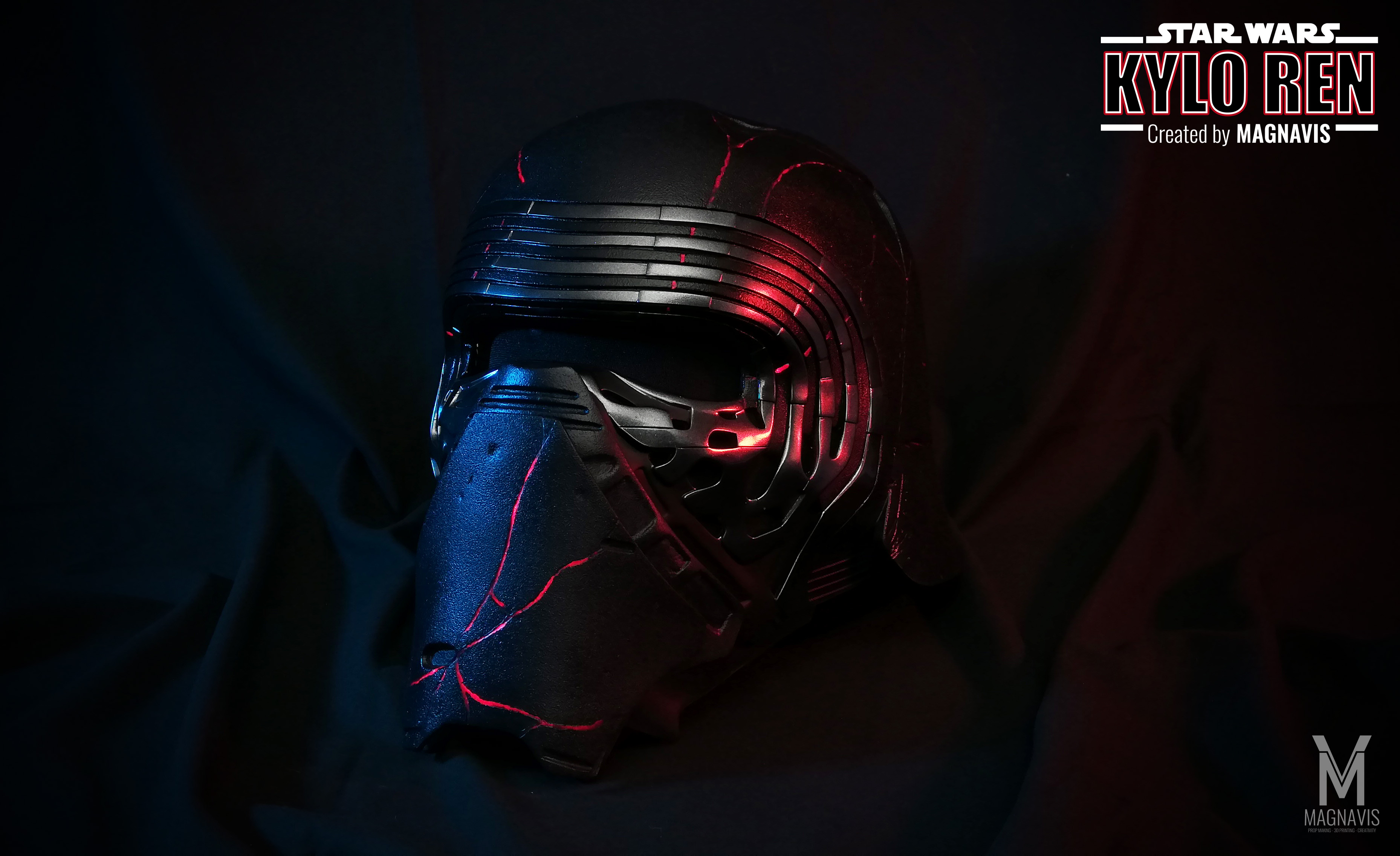 Makes Of Kylo Ren Helmet The Rise Of Skywalker Reforged Version By Magnavis Thingiverse