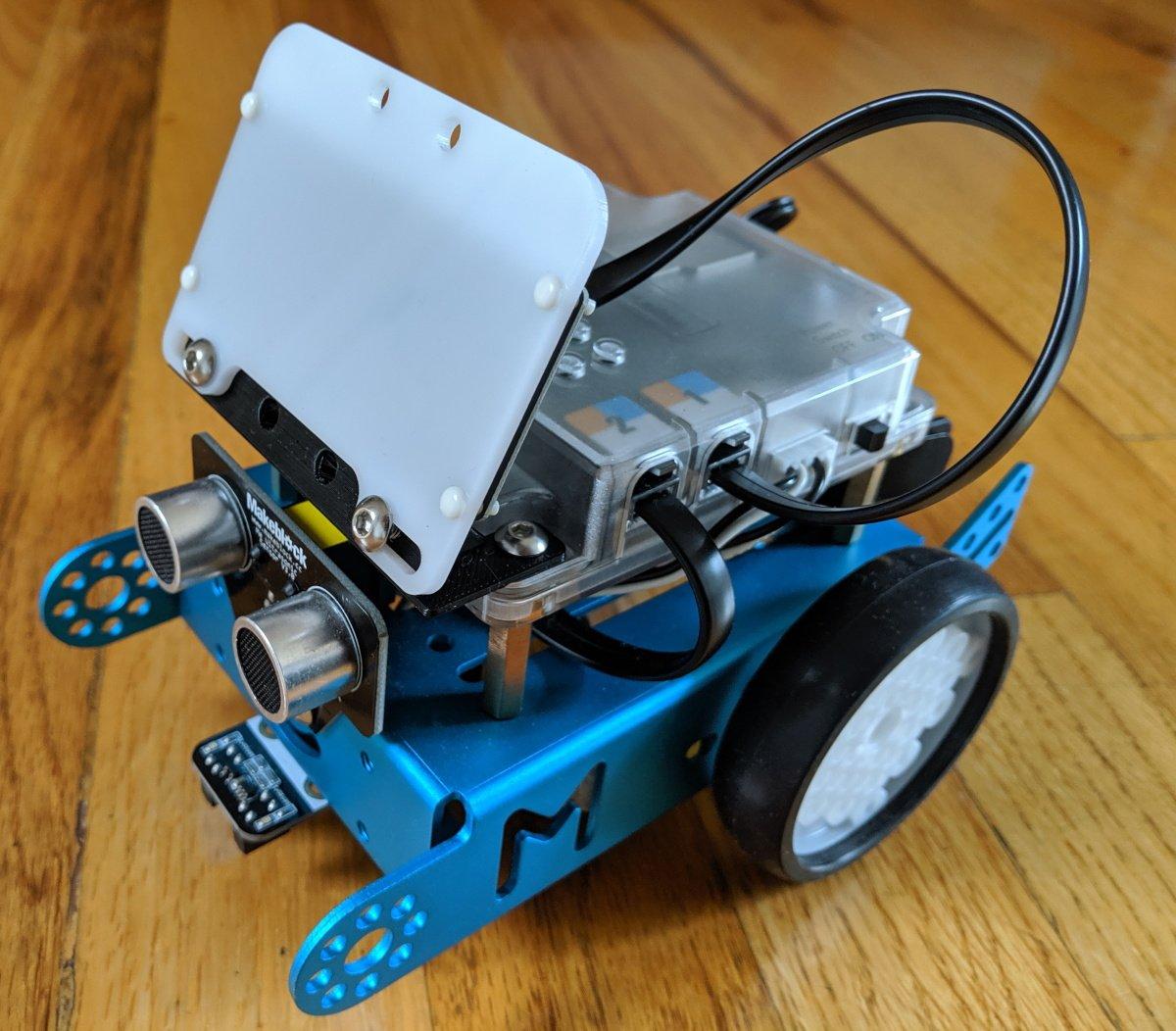 mBot face display led matrix mount