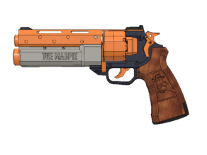 The Magpie -- Double Action Nerf Revolver (Half Dart)