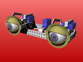 animatronic eye mechanics with adjustable eye distance