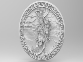 Perun (Odin) in plate (For CNC)