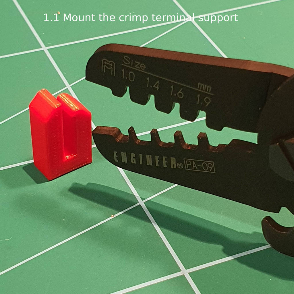 Engineer PA-09 Crimp Terminal Support, Avoid bending the Molex Micro-Fit 3.0 terminal during crimping