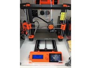"""PRUSA MK3S Front panel for DSI 3.5"""" touch screen"""