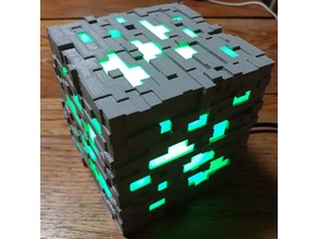 Complete Minecraft Ore Lamp
