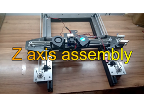 Z axis assembly for 3-in-1 3d printer cnc hybrid