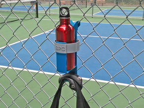 Chainlink Fence Bottle Holder & Bag Hook