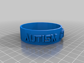 Autism Awareness flexible bracelet