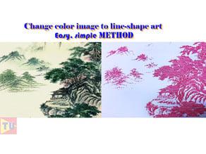 Change color image to line-shape art