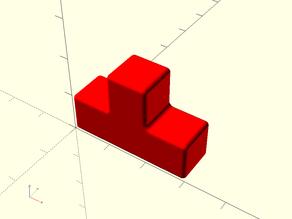 Tetris Cube Puzzle - OpenSCAD