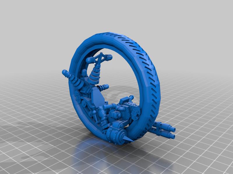 Mono Wheel Mek Ork with Force Field