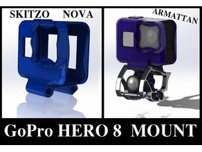 Armattan Rooster, Chameleon Ti, Marmotte, SKITZO Nova, GoPro Hero 8 FPV Mount (TPU)