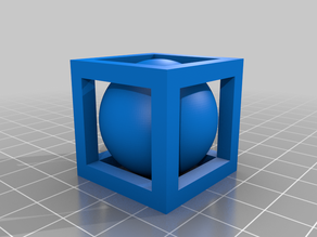 Sphere Inscribed Cube Fidget Spinner