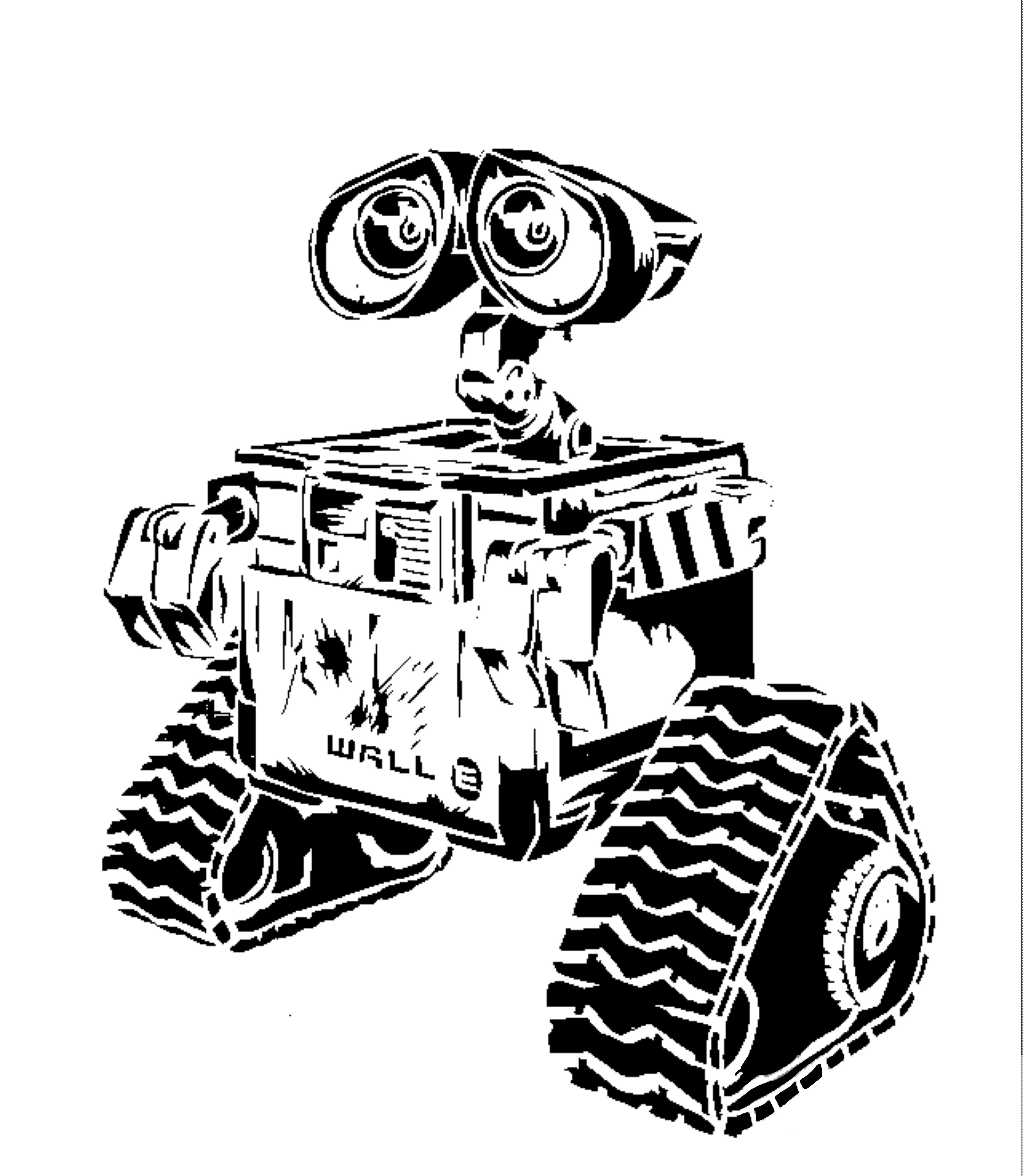 Wall-E stencil