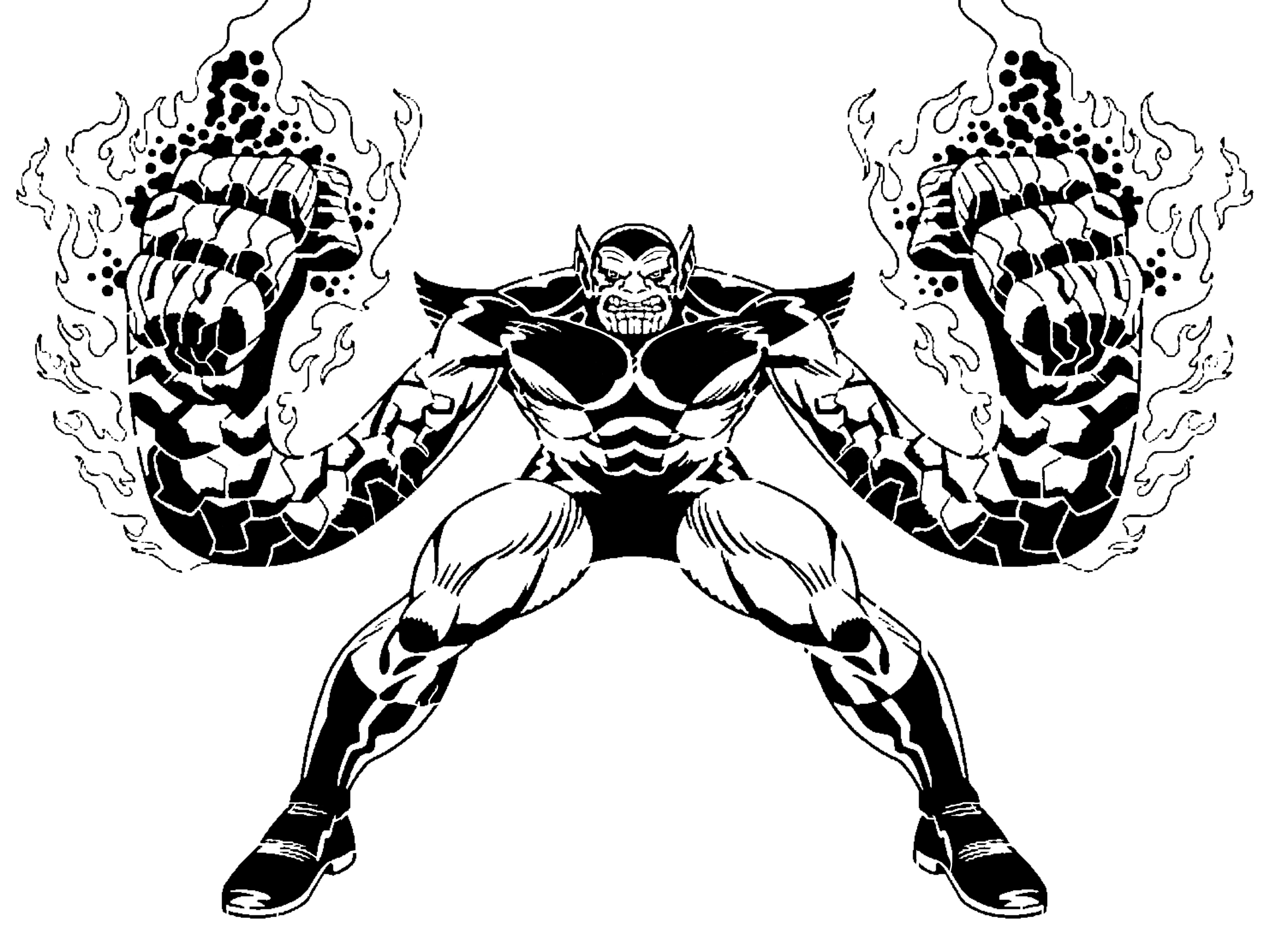 Super Skrull stencil