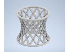 Hyperboloid ruled napkin ring