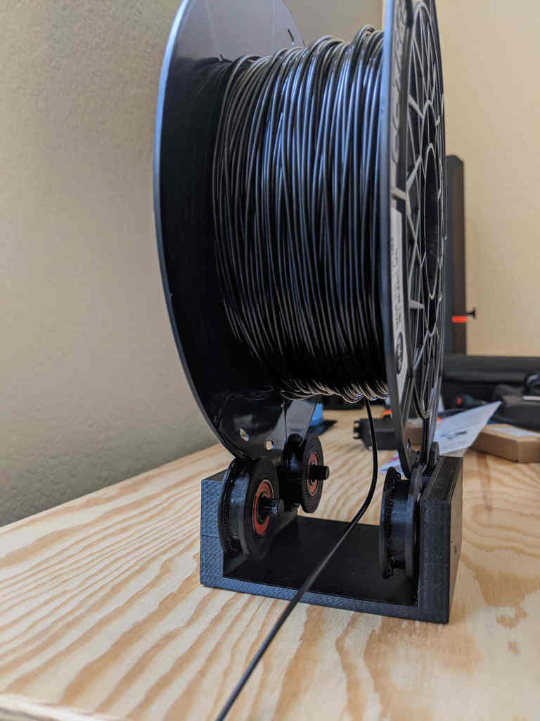 Filament Holder with Bearing Wheel