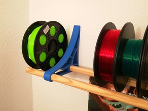 Another Spool Shelf out of a Broomstick