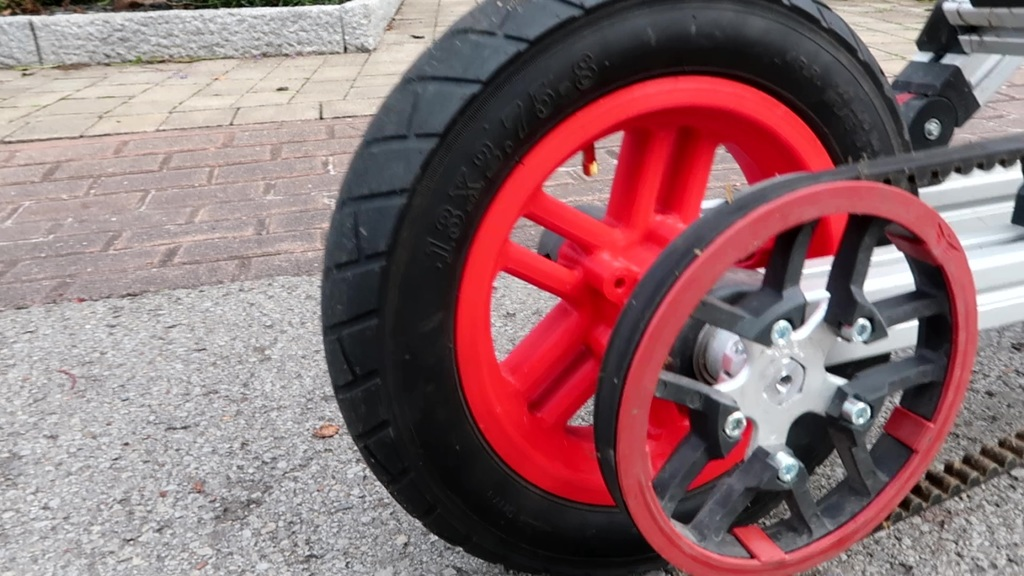 """Reinforced 8"""" rim for Infento with hex axle hole"""
