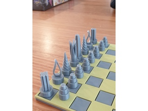 Chess set with storage box