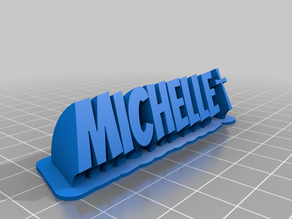 Michelle name plate