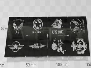 airbrush stencil military