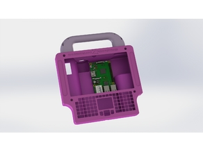 """7"""" Touchscreen with Keyboard Rugged Raspberry Pi Tablet"""