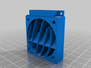 4010 blower adapter for 40mm fans (With and without fins)