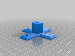 1/4 Inch-20 Camera Mount with 10mm spaced holes for M4 Screws