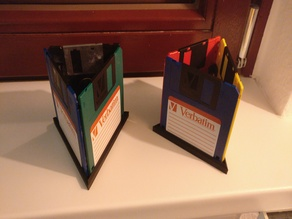 Floppy Disk Desktop Pen / Writing Equipment Holder / Organiser