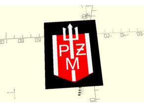 Polsteam (PZM) logo with text - OpenScad