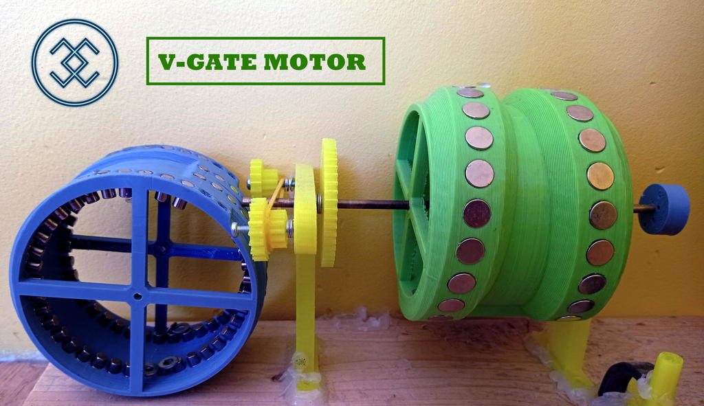 V-gate magnet motor rotor