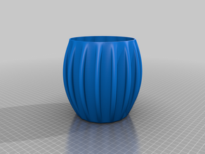 Larger Rib Round Vase / Pot