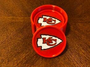 Kansas City Chiefs Coaster and Holder