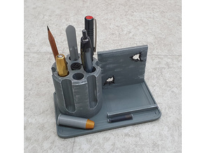 Desk Organizer Revolver Pen and Phone Holder