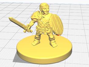Halfling Warrior (Fighter or Paladin) (28mm scale)
