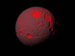 Luna 4 billion years ago scaled one in twenty million